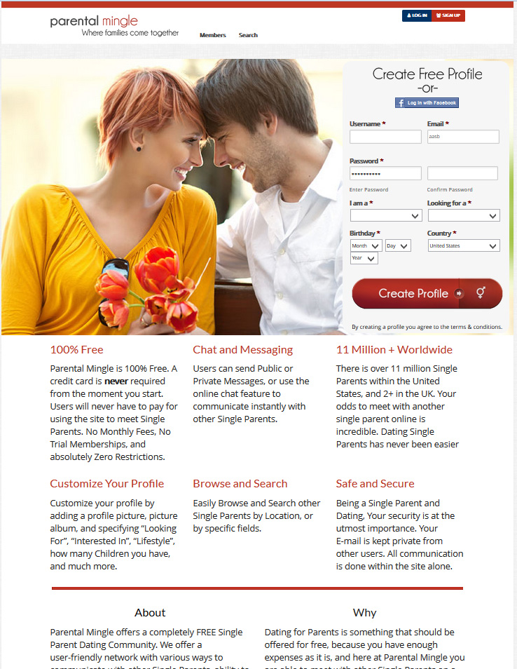 Single parents dating site completely free