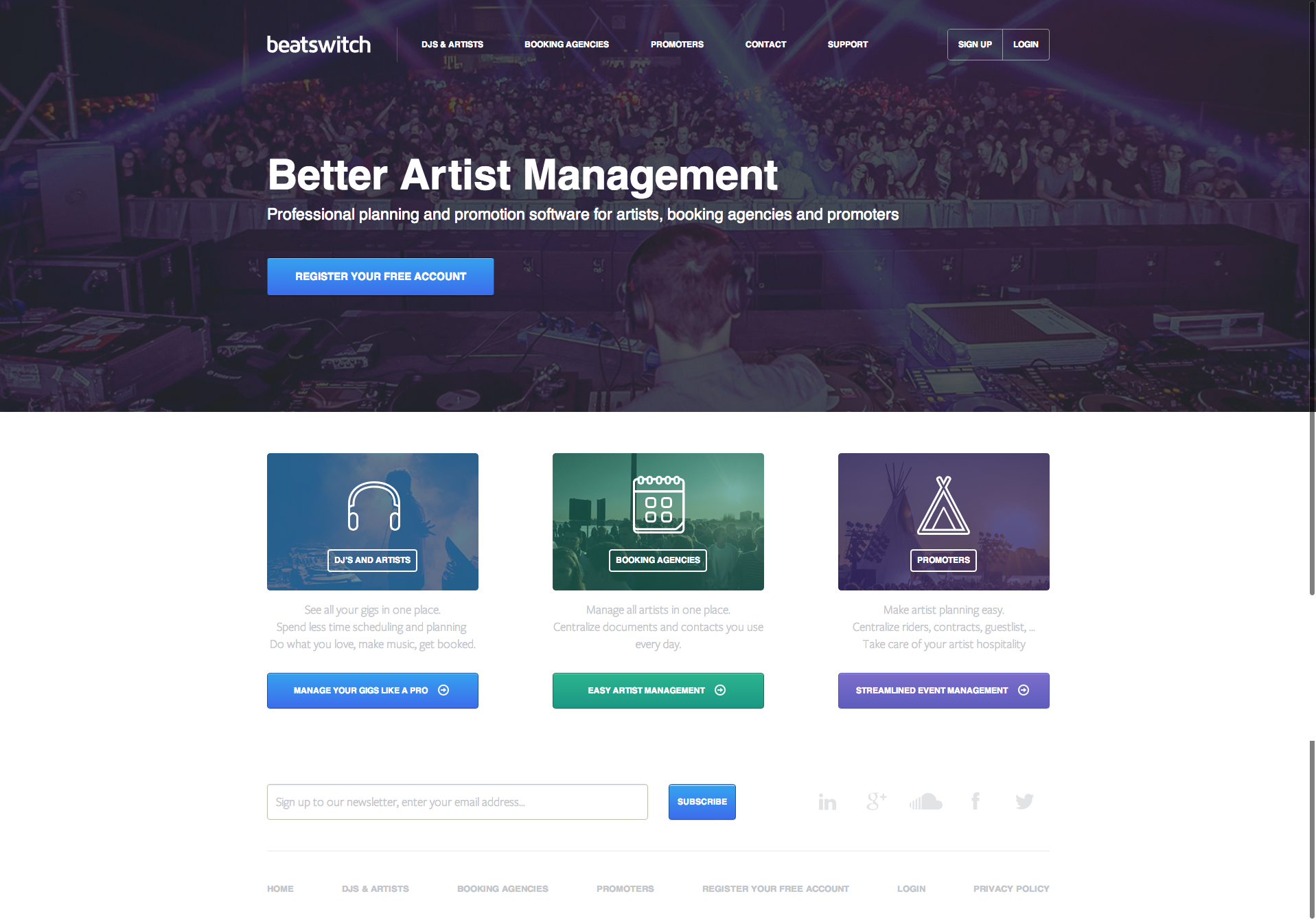 beatswitch jobs screenshot - Artist Management Jobs