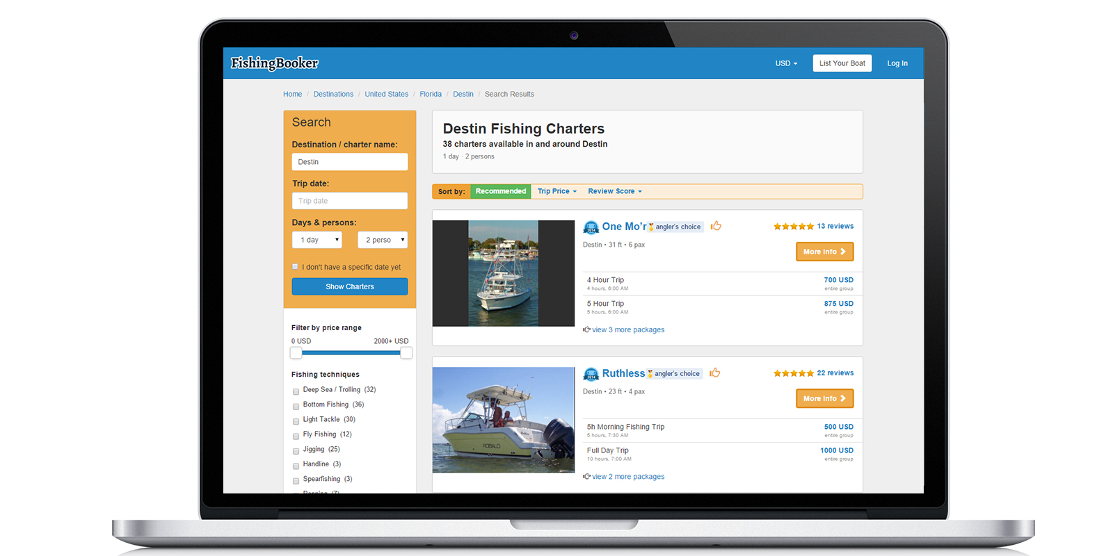 Fishingbooker careers funding and management team for Fishing guide salary
