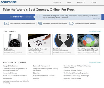 Coursera Jobs: Screenshot