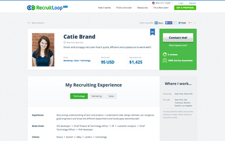 RecruitLoop Jobs: Screenshot