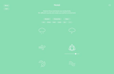 Noisli Jobs: Screenshot