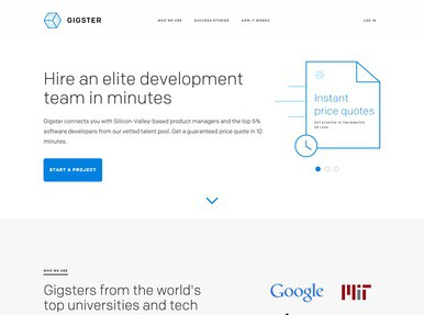 Gigster Jobs: Screenshot