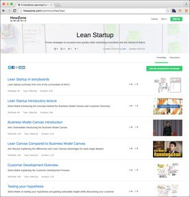 HowZone Learning Communities Jobs: Screenshot