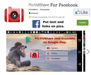 PicVidShare Jobs: Screenshot