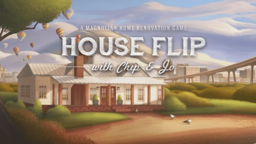 Image result for chip and joanna gaines house flip game logo