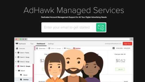 AdHawk Jobs: Screenshot